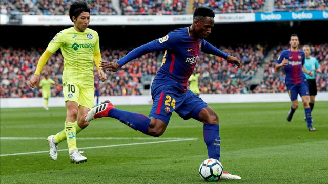 Yerry mina will have to leave if arthur joins barcelona laliga fc barcelona getafe 0 0 el partido de yerry stopboris Choice Image