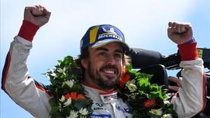 Alonso, pletórico tras ganar en Le Mans