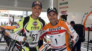 Adam Raga y Toni Bou, en una de las últimas competiciones que han compartido en el Mundial de trial.