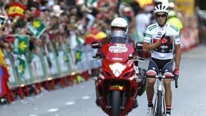 Alberto Contador dando sus últimas pedaladas como ciclista profesional