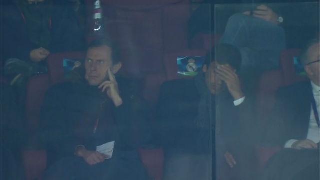 Así vivió Raúl la derrota del Madrid desde el palco