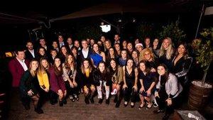 El Barça femenino celebró la cena de Navidad