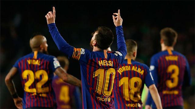 El FC Barcelona vence al Levante y se convierte en campeón de Liga