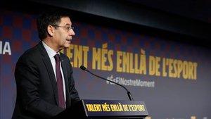 Bartomeu, presidente del Futbol Club Barcelona