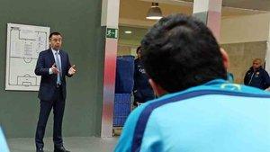 Bartomeu se reúne esta tarde con los jugadores del Barcelona