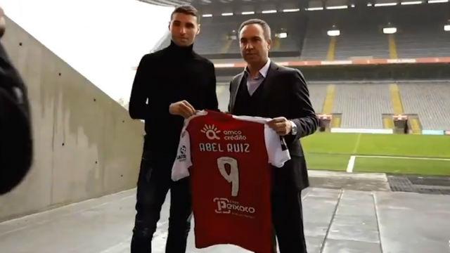 El Braga presenta a Abel Ruiz al más puro estilo Football Manager
