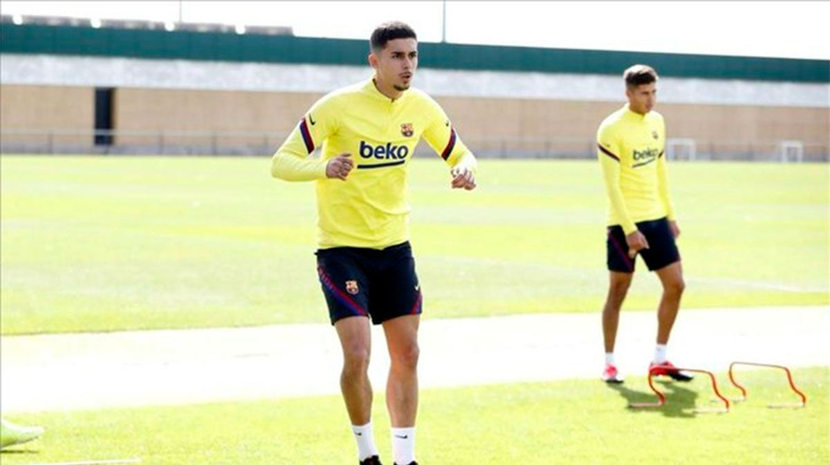 Chumi, la gran novedad de la segunda sesión grupal del Barça