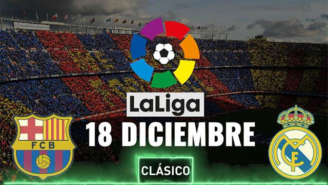 El Clásico tiene nueva fecha oficial: 18 de diciembre