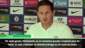 ¿Cómo se sintió Lampard en su debut en el banquillo de Stamford Bridge?