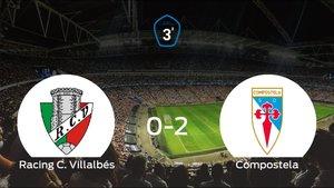 El Compostela vence 0-2 en el estadio del Racing C. Villalbés