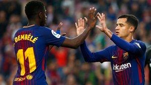 Dembélé puede quitarle el puesto en el equipo a Coutinho