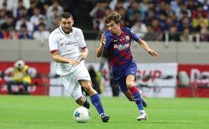 Imágenes del primer partido de pretemporada del FC Barcelona contra el Chelsea, amistoso correspondiente a la Rakuten Cup y disputado en el estadio Saitama.
