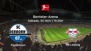 Jornada 13 de la Bundesliga: previa del duelo Paderborn - RB Leipzig