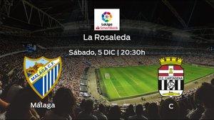 Jornada 17 de la Segunda División: previa del duelo Málaga - Cartagena