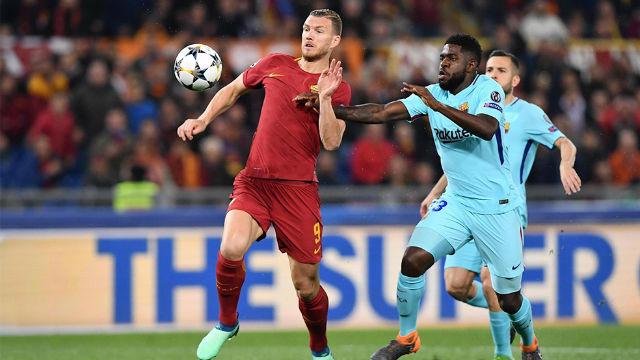 LACHAMPIONS   Roma - FC Barcelona (3-0): Umtiti no pudo evitar el gol de Dzeko