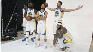 Las estrellas de los Warriors, en las fotos de pretemporada