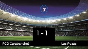 Las Rozas saca un punto al RCarabanchel en su casa 1-1