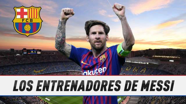 Los entrenadores de Messi en su era como emblema azulgrana