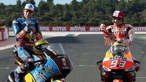 Los hermanos Márquez, campeones del mundo de MotoGP y Moto2 2019