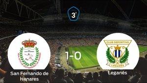 Los tres puntos se quedan en casa tras el triunfo del San Fernando de Henares frente al Leganés B (1-0)