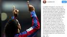 El emotivo mensaje de despedida de Ronaldinho en Instagram