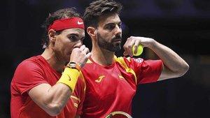 Nadal disputó el punto de dobles contra Croacia