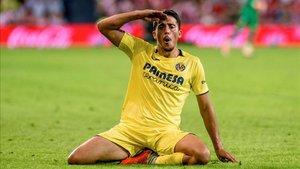 Pablo Fornals celebrando un gol con el Villarreal CF