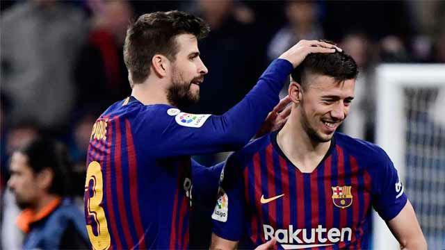 La pareja Piqué - Lenglet, defensa inquebrantable en el Bernabéu