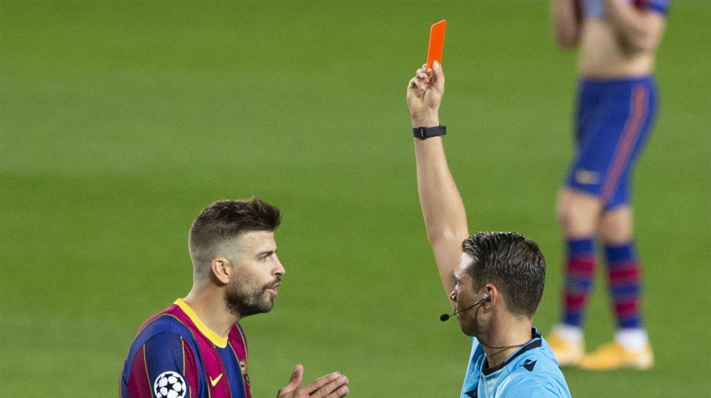 Piqué fue expulsado antes del gol del Ferencvaros