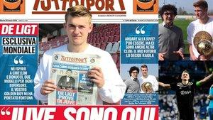 La portada de Tuttosport con Matthijs de Ligt