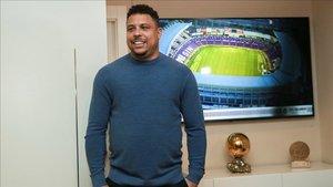 El presidente brasileño del Real Valladolid Club de Fútbol Ronaldo Nazario