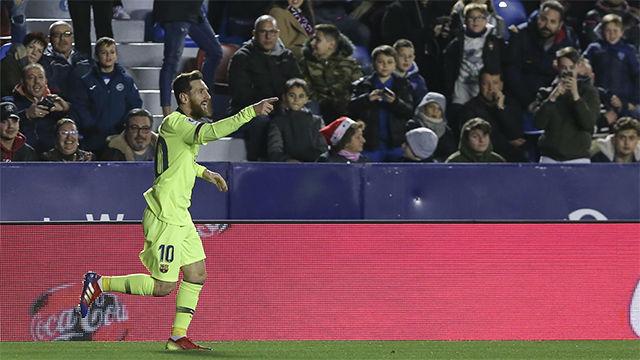 ¿De quién iba a ser? Así narró la radio el segundo gol de Messi ante el Levante