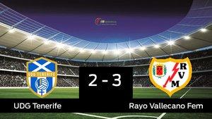 El Rayo Vallecano venció en casa del Granadilla Tenerife Egatesa