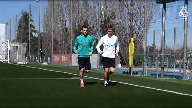 El Real Madrid ya prepara el encuentro ante el Athletic