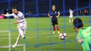 Sergio Ramos anotó el momentáneo 2-2 de penalti