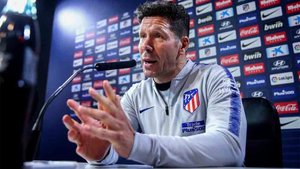 Simeone pidió perdón en la rueda de prensa