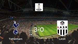 El Tottenham Hotspur se queda con los tres puntos frente al LASK (3-0)