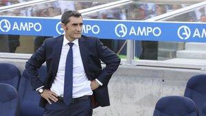 Valverde, en el banquillo blaugrana