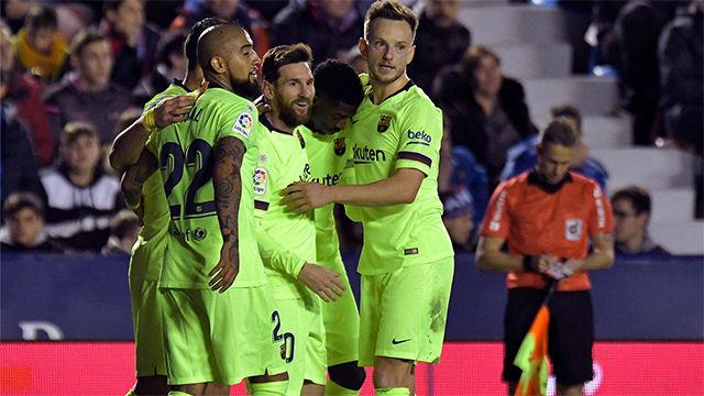 Vea las notas de los jugadores del Barça en la primera mitad ante el Levante