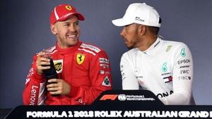 Vettel y Hamilton, en la rueda de prensa