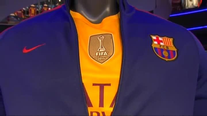 El escudo del mundial de clubs un xito barca - Tarimas del mundo madrid ...