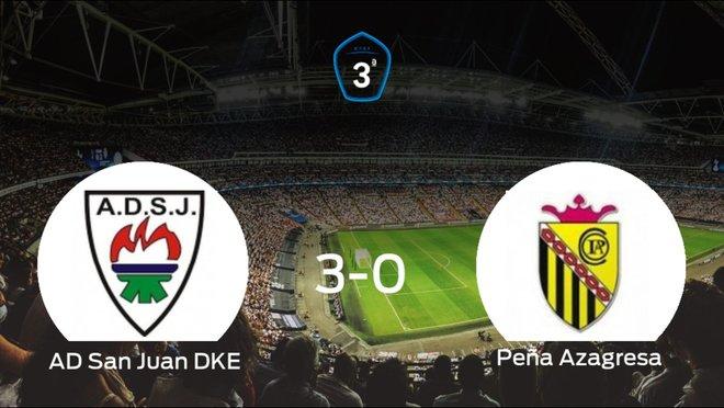 El San Juan DKE consigue los tres puntos en casa tras pasar por encima a la Peña Azagresa (3-0)