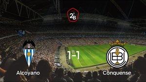 El Alcoyano no pudo conseguir la victoria frente al Conquense (1-1)