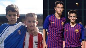 Ángel y Raúl, los primos Alarcón del Barça