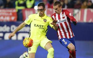 Ángel Trujillo en la pasada jornada frente al Atlético de Madrid