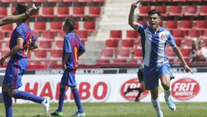 Arnau Puigmal celebra su gol en la final del MIC ante el Barça