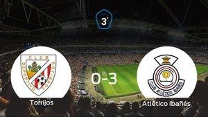 El Atlético Ibañés se pasea ante el Torrijos sin apenas obstáculos (0-3)