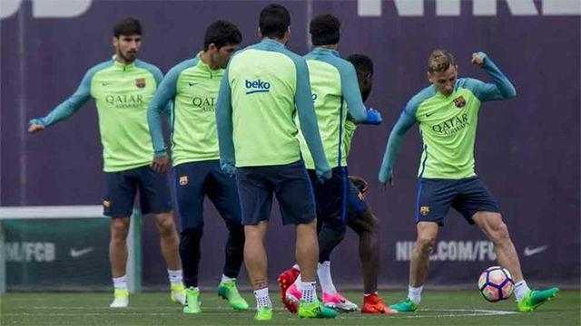El Barça se entrenó tras la eliminación en la Champions
