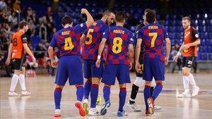 El Barça se mostró muy superior a Ribera Navarra