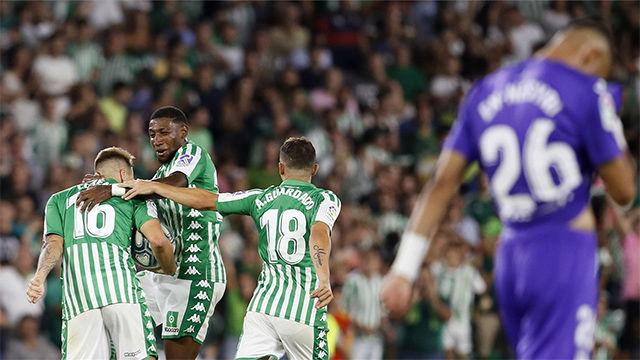 El Betis remonta al Leganés en el Villamarín
